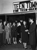 Teenagers Gathering at Teen Town Recreation Hall at Oak Ridge  Tennessee
