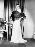 Sylvia Sidney in Gown and Cape Designed by Howard Greer  1935