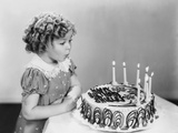 Shirley Temple  Celebrating Her Eighth Birthday  April 1936