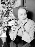 Marlene Dietrich  at the Dorchester Hotel in London  May 1955