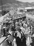 US Marine Troops Arrived at the Port of Pusan the Day Before