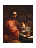 St Augustine Writes in Room with His Students