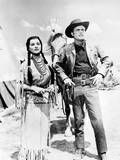 White Feather  from Left  Debra Paget  Robert Wagner  1955