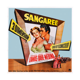 Sangaree Art  from Left: Arlene Dahl  Fernando Lamas  1953