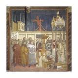 Nativity Scene with St Francis Holding Baby Jesus