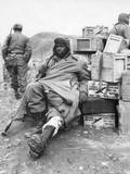 US Soldier of the 24th Infantry Regiment Wounded in the Leg on Feb 16  1951