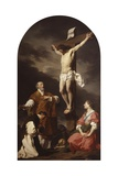 Crucifixion with Mary Magdalene  St Eusebius and St Philip Neri