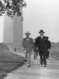 President Harry Truman and Secret Service Men on a Walk Near the White House in 1946