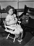 Poor Little Rich Girl  Shirley Temple  Learning to Sew On-Set  1936