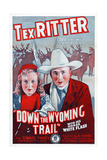 Down the Wyoming Trail  L-R: Mary Brodel  Tex Ritter  1939