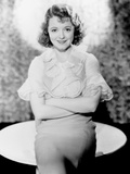 Adorable  Janet Gaynor  in a Dress by Rita Kaufman  1933