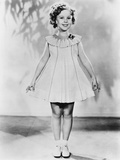 Shirley Temple  Modeling a Dotted-Swiss Dress  Ca 1936