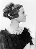 Sylvia Sidney Wearing the 'Cascade Coiffure ' 1934