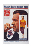 Satan Never Sleeps  from Left: William Holden  France Nuyen  1962