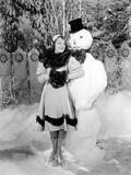 Janet Gaynor  Cuddling Up to a Terrifying Snowman  1922