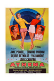 Athena  from Left: Edmund Purdom  Jane Powell  Debbie Reynolds  Vic Damone  1954