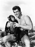 Tarzan and the Lost Safari  from Left: Cheetah  Gordon Scott  1957