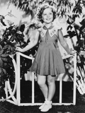 Shirley Temple  Modeling a Summer Frock of Handkerchief Lawn  Ca 1936