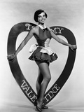 Leslie Caron  Mgm Valentine's Day Pin-Up  Early 1950s