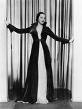 Sylvia Sidney in Ruby Velvet Wrap over White Orggandy Evening Gown  1935