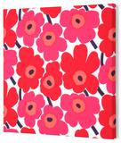 Marimekko®  Mini-Unikko Fabric Panel - Red 15x15
