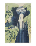 The Amida Falls in the Far Reaches of the Kisokaidô Road Reproduction d'art par Katsushika Hokusai