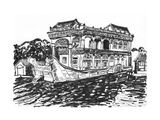 The Summer Palace Stone Boat Sketch