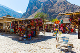 Souvenir Market on Street of Ollantaytambo Peru South America
