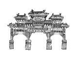 Hand Draw Chinese Archway