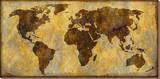 Carte du monde Tableau sur toile par Paul Duncan