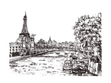 Paris River Hand Draw