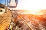 Sailing Yacht against Sunset Luxury Yachts