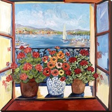 Flowers and Seascape