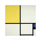Composition with Blue and Yellow Reproduction d'art par Piet Mondrian