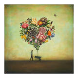 Big Heart Botany Reproduction d'art par Duy Huynh