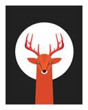 Deer & Moon