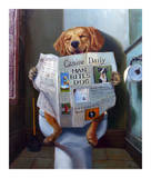 Dog Gone Funny Reproduction d'art par Lucia Heffernan