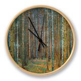 Tannenwald (forêt de pins), vers 1902 Horloge par Gustav Klimt