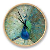 Blue Peacock on Gold Horloge par Danhui Nai