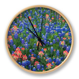 Blue Bonnets and Paint Brush in Texas Hill Country, USA Horloge par Darrell Gulin