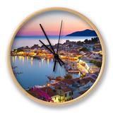 Harbour at Dusk, Pythagorion, Samos, Aegean Islands, Greece Horloge par Stuart Black