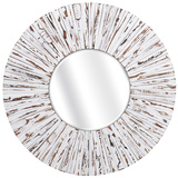 Belle White Rustic Mirror *