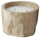 White Pepper Log Candle - Small *