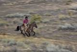 Cowboy Riding at Full Speed in Motion