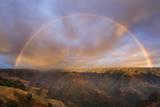 Sunset Rainbow  Waimea Canyon  Kauai  Hawaii