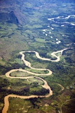 Meandering Wamena River  Baliem Valley  West Papua  Indonesia