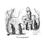 """It's post-gingerbread"" - New Yorker Cartoon"