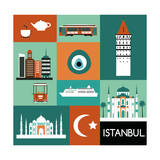 Symbols of Istanbul Vector