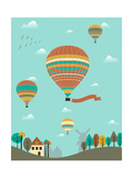 Hot Air Balloons over the Country