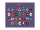 Colored Alphabet Vector